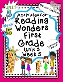 Activities For Reading Wonders First Grade Unit 3 Week 5 D
