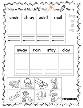 Activities For Reading Wonders First Grade Unit 4 Week 1 Long a  ai  ay