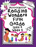 Activities For Reading Wonders First Grade Unit 4 Week 2 l