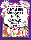 Activities For Reading Wonders First Grade Unit 4 Week 3 L