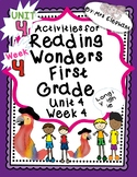 Activities For Reading Wonders First Grade Unit 4 Week 4 L