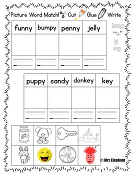 Activities For Reading Wonders First Grade Unit 4 Week 5 Long e y ey