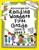 Activities For Reading Wonders First Grade Unit 5 Week 1 ar