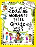 Activities For Reading Wonders First Grade Unit 5 Week 2 e