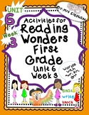 Activities For Reading Wonders First Grade Unit 6 Week 3 wr kn gn