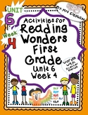 Activities For Reading Wonders First Grade Unit 6 Week 4 - 3 Letter Blends