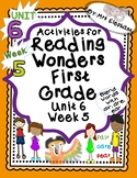 Activities For Reading Wonders First Grade Unit 6 Week 5 air are ear