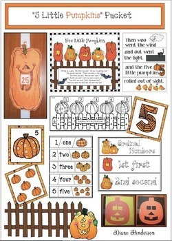 """Activities For The """"5 Little Pumpkins Sitting On A Gate"""" Poem"""