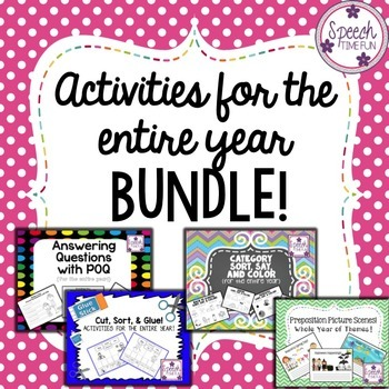 Activities For The Entire Year BUNDLE