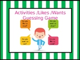 Activities / Likes / Dislikes Guessing Game