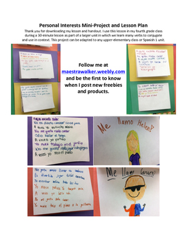 Activities - Mini-Project and Lesson to say what you do an