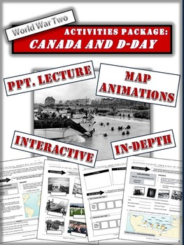 Juno Beach - Canada and D-Day Package -  20+Pgs and Dynamic PPT