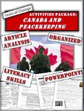 Canadian Peacekeeping, Peacebuilding or Peacemaking?  Creative Activities Pkg.
