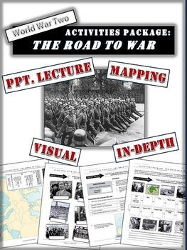 Appeasement and the Road to World War Two Package: 20+ Pages/Slides of Resources