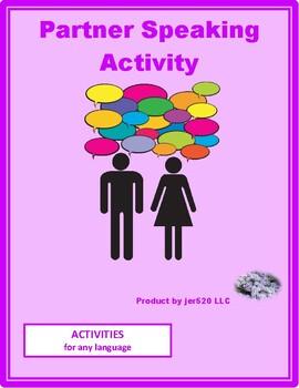 Activities Partner Speaking Activity 1