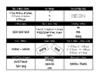 Activities & Templates for Word Work!