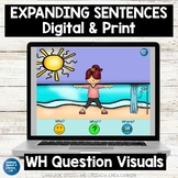 No Print Speech Therapy Spring Scenes Expanding Sentences