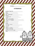 Activities Vocabulary Practice - Spanish (los pasatiempos/