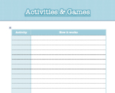 Activities and Games List