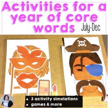 AAC Core Vocabulary Activities to Learn a Year of Core Words Part 2