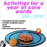 AAC Core Words Activities and Games to Learn a Year of Core Words