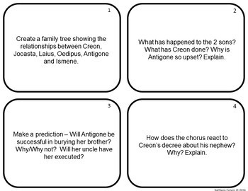 Activities and Handouts for Antigone by Sophocles