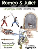 Activities and Handouts for Romeo and Juliet by William Shakespeare