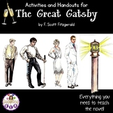 Activities and Handouts for the novel The Great Gatsby