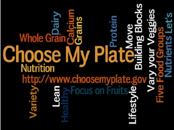"""Activities and Lessons for """"Choose My Plate"""""""