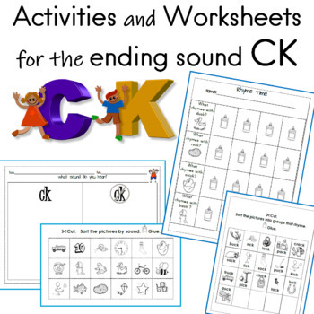 activities and worksheets for the ending sound ck tpt. Black Bedroom Furniture Sets. Home Design Ideas