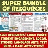 All Year Activities Resources Bundle Featuring Math, Reading, Writing and More!