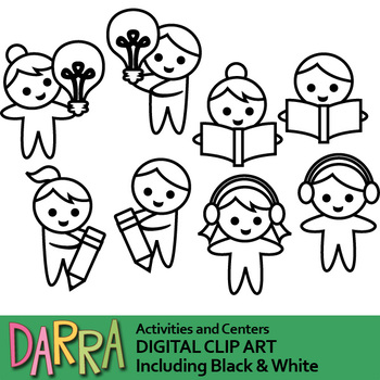 Activities and centers clip art
