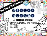 Activities and coloring booklets for WINTER holidays  (New Year's  / Valentine's