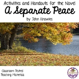 Activities and Handouts for the Novel A Separate Peace by John Knowles