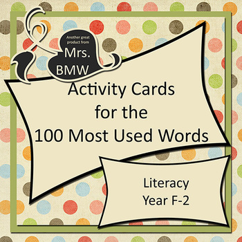 Activities for 100 Most Used Words