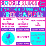 Activities for 2nd Grade Math FREE SAMPLE Google Slides Di