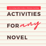 Activities for ANY Novel