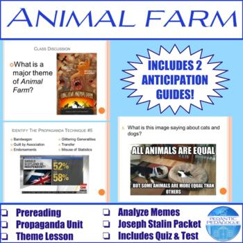 Activities for Animal Farm by George Orwell