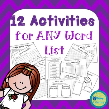 Activities for Any Word List