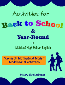 Activities for Back-to-School & Year-Round in Middle & High School English