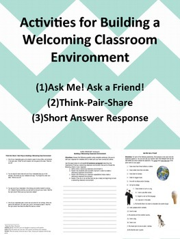 Activities for Building a Welcoming Classroom Culture