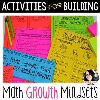 Activities for Building a Math Growth Mindset Grades 4-6