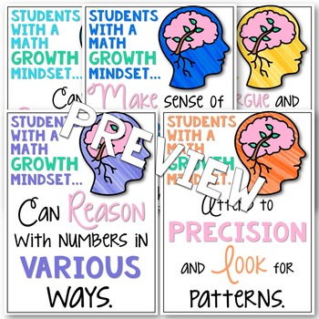Growth Mindset Activities MATH Grades 4-6 Growth Mindset Posters