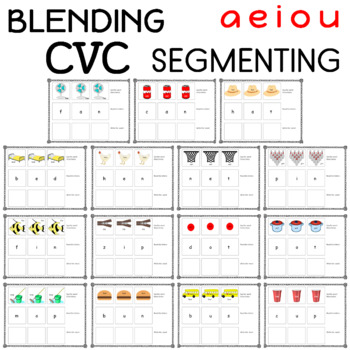 Activities for CVC Word Work (Blending and Segmenting)