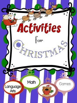 Activities for Christmas--No Prep Best FUN PACK!