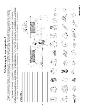 Les vêtements : les activités et le vocabulaire autour des vêtements