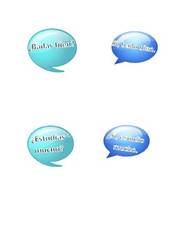 Activities for Communication of Likes/Activities/Adjectives