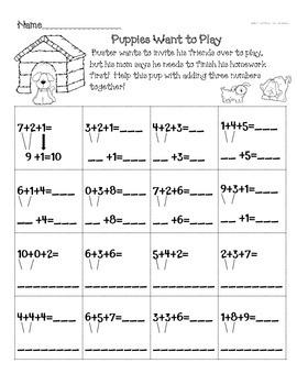Activities for Comparing Quantities in Equations & Equations w/3 addends