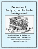 Activities for Deconstructing, Analyzing, and Evaluating Any Argument