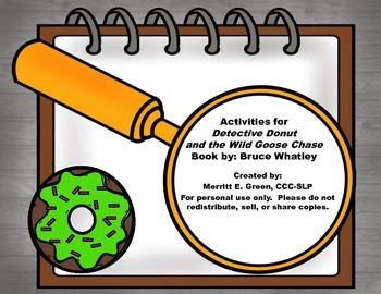 Activities for Detective Donut and the Wild Goose Chase {FREEBIE}